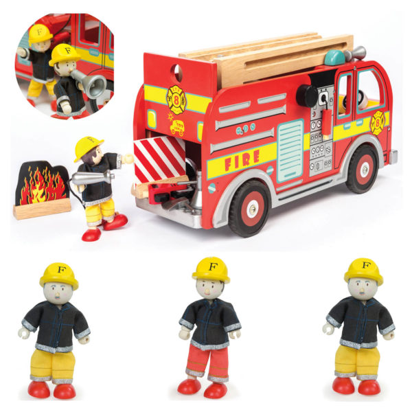 Hasičské auto s hasičom