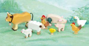 Zvieratká zo slnečnej farmy. Drevené hračky pre deti
