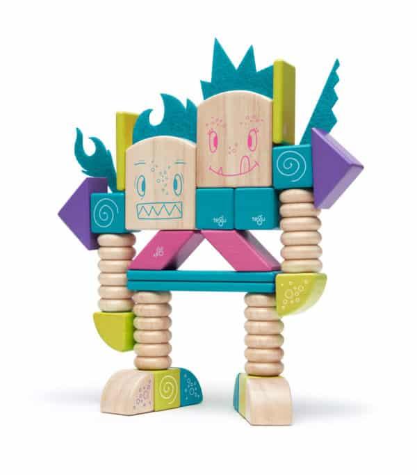 Beans Tumtum robot 600x683 - Magnetická hračka Tegu Beans & Tumtum