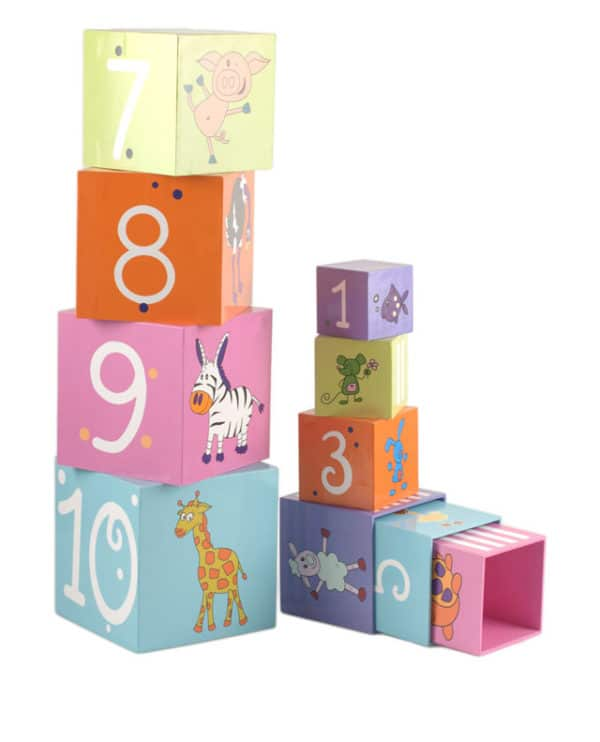 1332 Farebna pyramida s cislami a zvieratkami pre deti