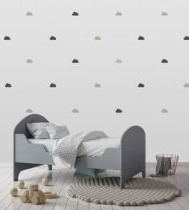 STE NA LEPKY oblaciky sede cierne 270x300 - Nálepky na stenu vyrobené na Slovensku