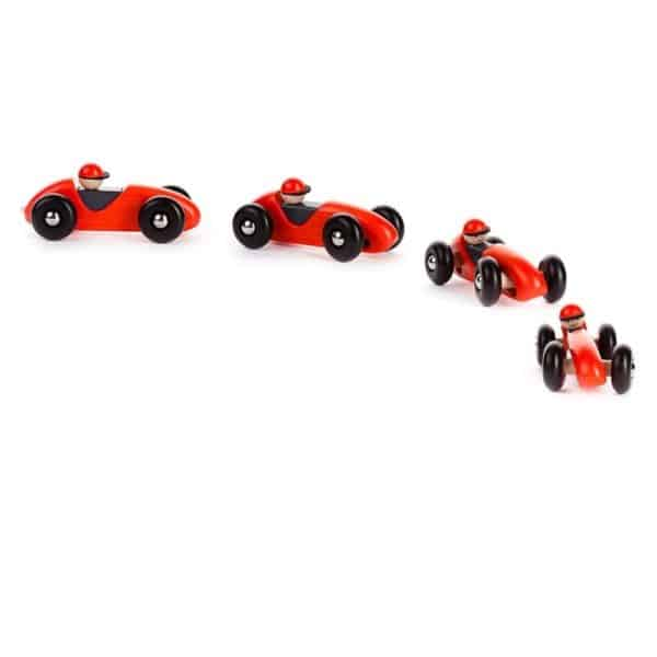 Bajo Retro auto tocenie 600x600 - Retro formula - červená