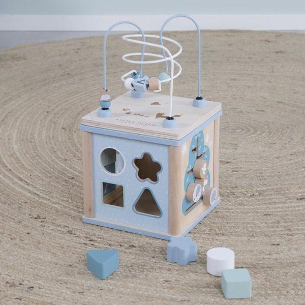 kocka s aktivitami little dutch blue mojtojsk 600x600 - Kocka s aktivitami Little Dutch - modrá